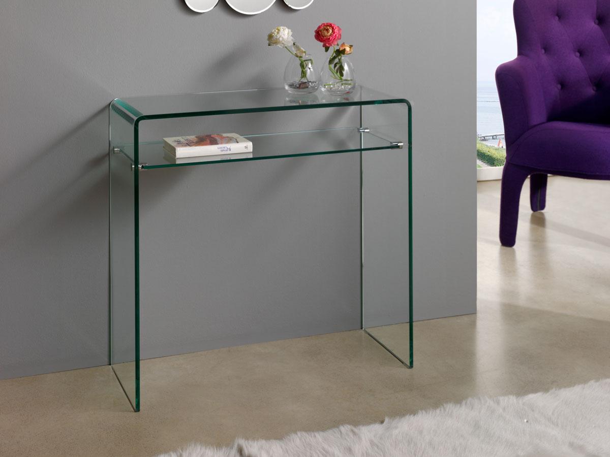 console verre gary 80 x 30 x 76 cm 83913. Black Bedroom Furniture Sets. Home Design Ideas