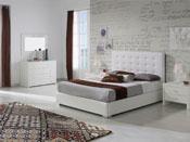 """Lit-coffre """"Eva"""" - 140 x 190 cm - Blanc"""