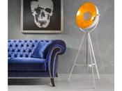 "Lampe ""Flash"" - Ø 53 x 163 cm - Coloris blanc/or"