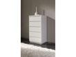 "Chiffonnier ""Adélie"" - 61 x 45 x 112 cm - 5 tiroirs - Coloris blanc brillant"