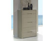 """Chiffonnier """"Manille"""" - 68 x 45 x 114 cm - 6 tiroirs - Coloris moka"""