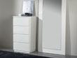 """Chiffonnier """"Opale"""" - 59 x 45 x 113 cm - 4 tiroirs - Coloris blanc"""