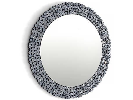 """Miroir rond en verre """"Gloria"""" - 80 x 80 cm"""