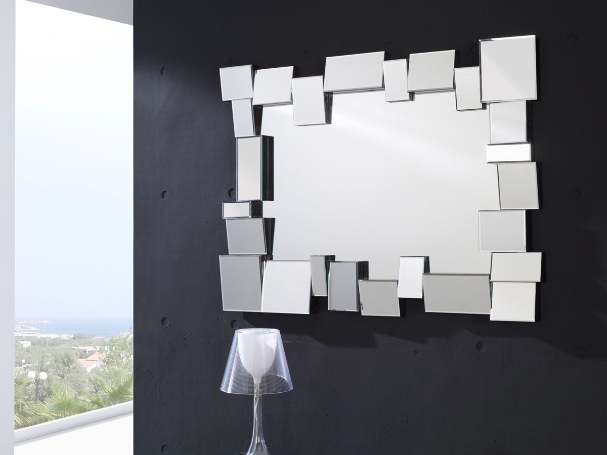 Miroir mural londres 118 x 88 cm 83966 for Miroir vertical mural design