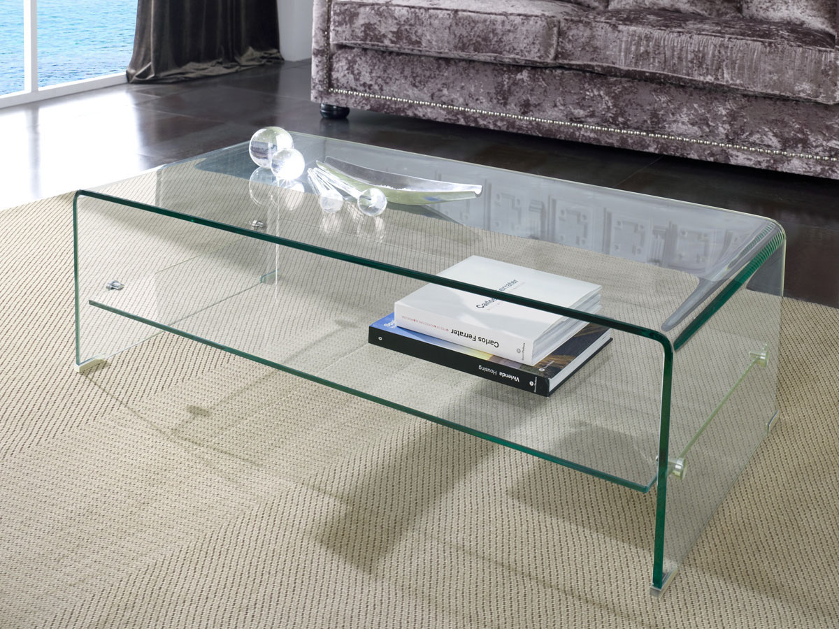 Table Basse Mint 110 X 55 X 35 Cm Transparent 83919 # Table Basse Transparente