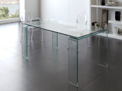 """Table repas verre """"Annie"""" - 160 x 90 x 75 cm - 6 places"""