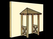 "Avant-toît ""Wesel"" - 1,82 x 1,18 m - Porte simple"