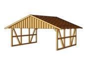 Carport voiture - 41.04 m² - 6.84 x 6.00 x 3.52 m