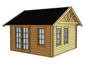 """Abri jardin bois """"Toronto 1"""" - 17,64 m² - 4.20 x 4.20 x 3.62 m - 70 mm"""