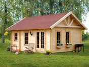 """Abri jardin bois """"Toronto 2"""" - 23,52 m² - 4.20 x 5.60 x 3.62 m - 70 mm"""