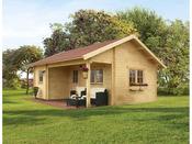 "Abri jardin bois ""Ontario"" - 24 m² - 6.00 x 5.00 x 3.54 m - 70 mm"