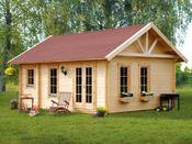 """Abri jardin bois """" Bern """" - 17.64m² - 4.20 x 4.20 x 3.50 m - 45 mm"""