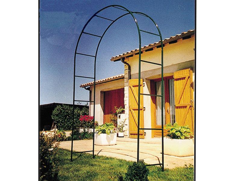 Pergola arceau de jardin h 275 x p 40 x l 150 cm 38414 - Arceau de jardin pour plantes grimpantes ...