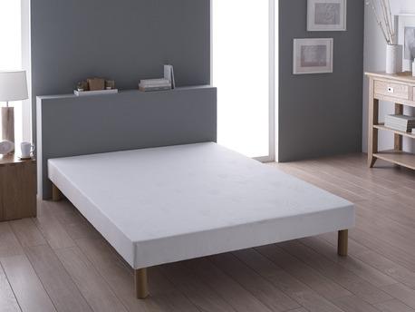 """Sommier tapissier bandes lisses + pieds """"Pékin"""" - 160 x 200 cm"""