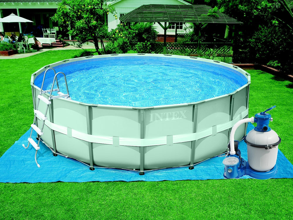 Piscine tubulaire ronde ultra frame x 16466 for Piscine hors sol tubulaire amazon
