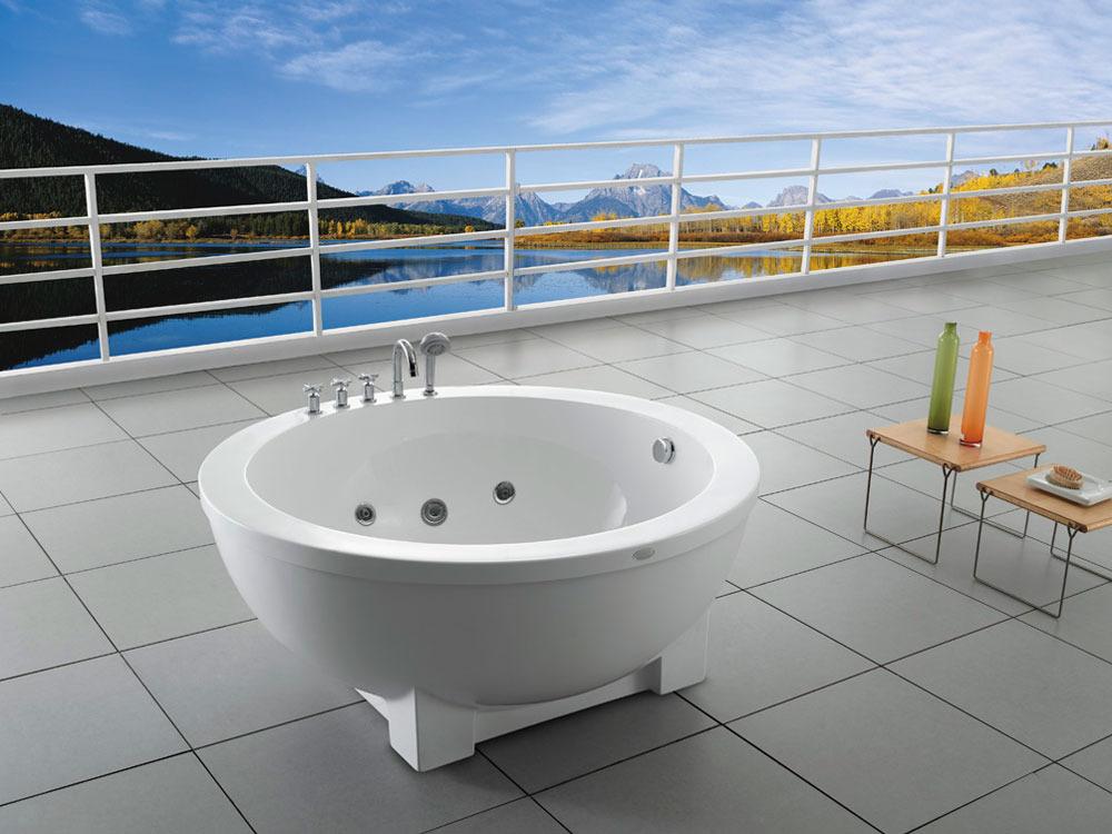 baignoire baln o ronde la romana 1 place 150 x. Black Bedroom Furniture Sets. Home Design Ideas