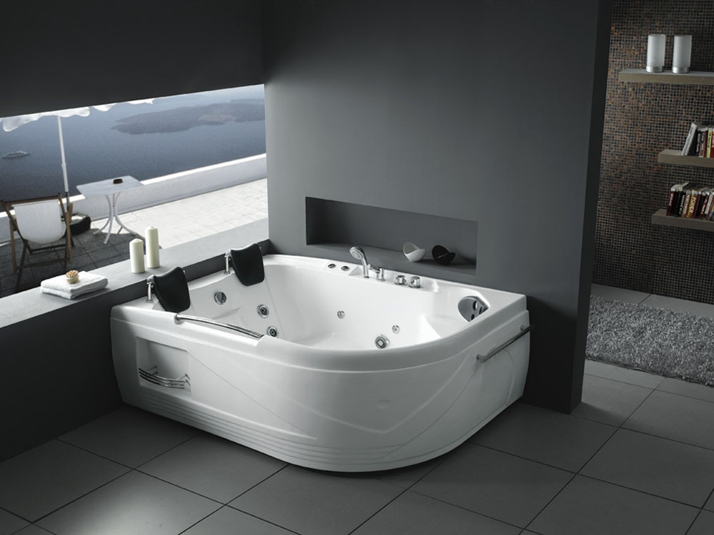 baignoire baln o california 2 places 192x136x76cm 51347. Black Bedroom Furniture Sets. Home Design Ideas