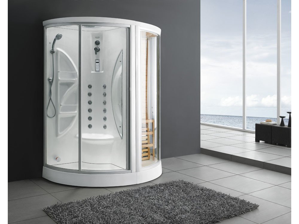 Combiné douche, sauna et hammam \