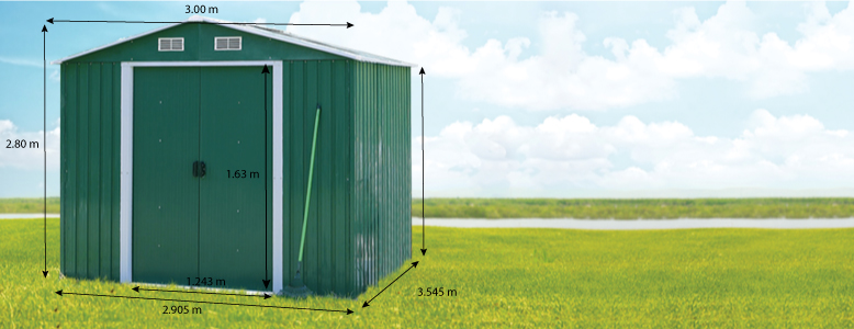 Abri jardin métal - 2.19 m² - 1.52 x 1.44 x 1.95 m - 36119