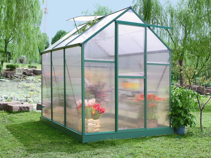 Serre Jardin Polycarbonate Begonia Vert Sapin 5 3 M 52411