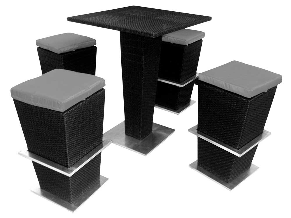salon de jardin la havane table haute 4 tabourets 51883. Black Bedroom Furniture Sets. Home Design Ideas
