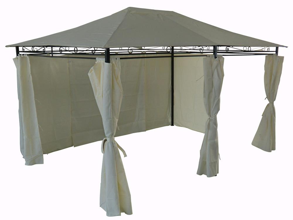 tonnelle pergola rosita avec rideaux amovibles en. Black Bedroom Furniture Sets. Home Design Ideas