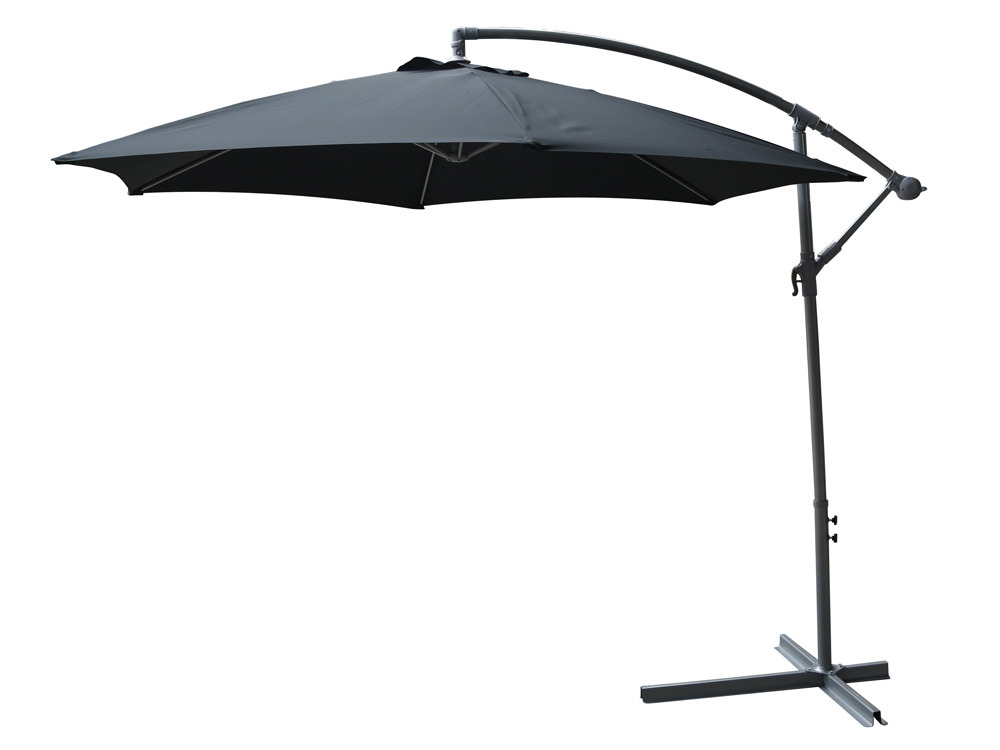parasol jardin d port emma aluminium d 3m noir 58458. Black Bedroom Furniture Sets. Home Design Ideas