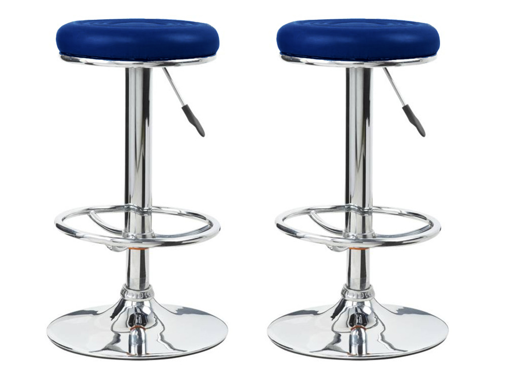 Lot de 2 tabourets de bar tony noir en simili cuir 52986 for Tabouret bar couleur