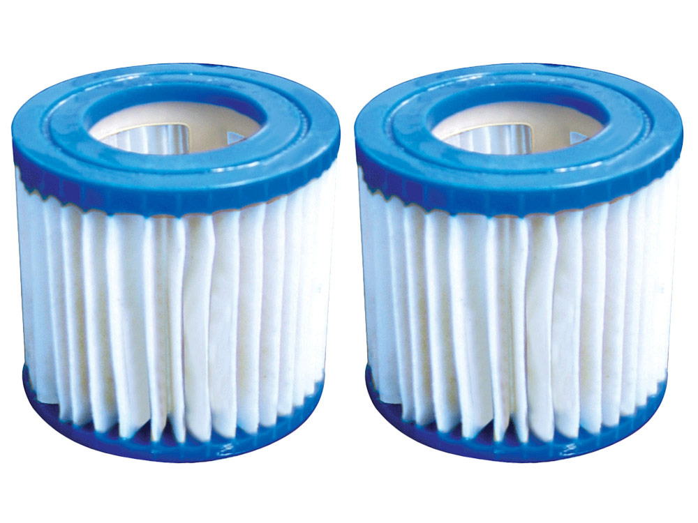 Lot de 2 filtres de rechange pour piscine o blue 43772 for Filtre de piscine