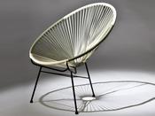 "Lot de 2 fauteuils de jardin ""Ovaly"" - Blanc/gris"