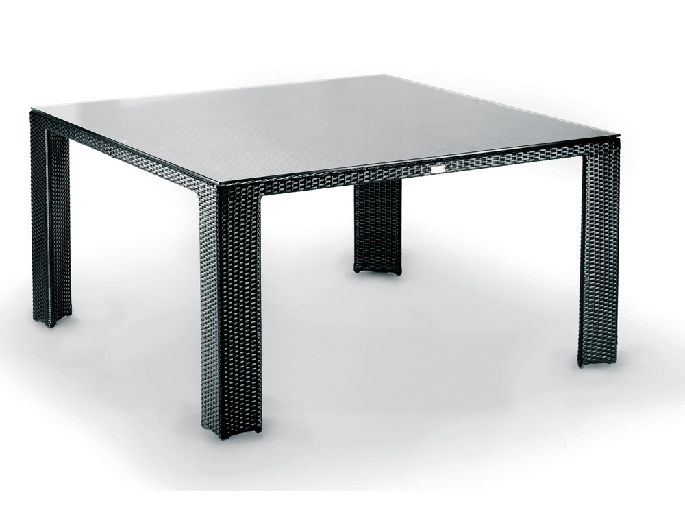 Table de jardin lounge 8 couverts r sine tress e 59630 Table vue de haut