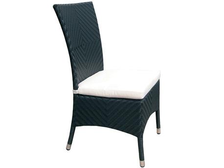 """Lot de 2 chaises de jardin """"Lounge dining"""" - Noir"""