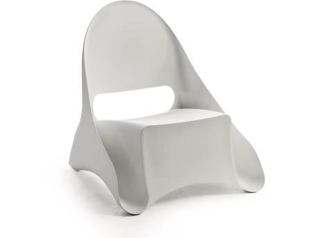 "Lot de 4 fauteuils de jardin ""Ondule"" - Blanc"