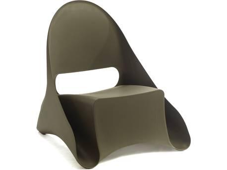 """Lot de 4 fauteuils de jardin """"Ondule"""" - Taupe"""