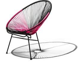 """Lot de 2 fauteuils de jardin """"Ovaly"""" - Fuschia / Noir"""