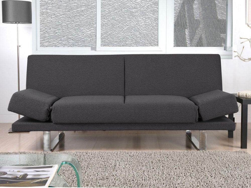 canap clic clac tomy 3 places gris 53431. Black Bedroom Furniture Sets. Home Design Ideas